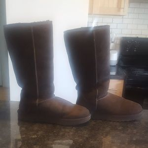 UGG womens tall chocolate brown size 10 boots